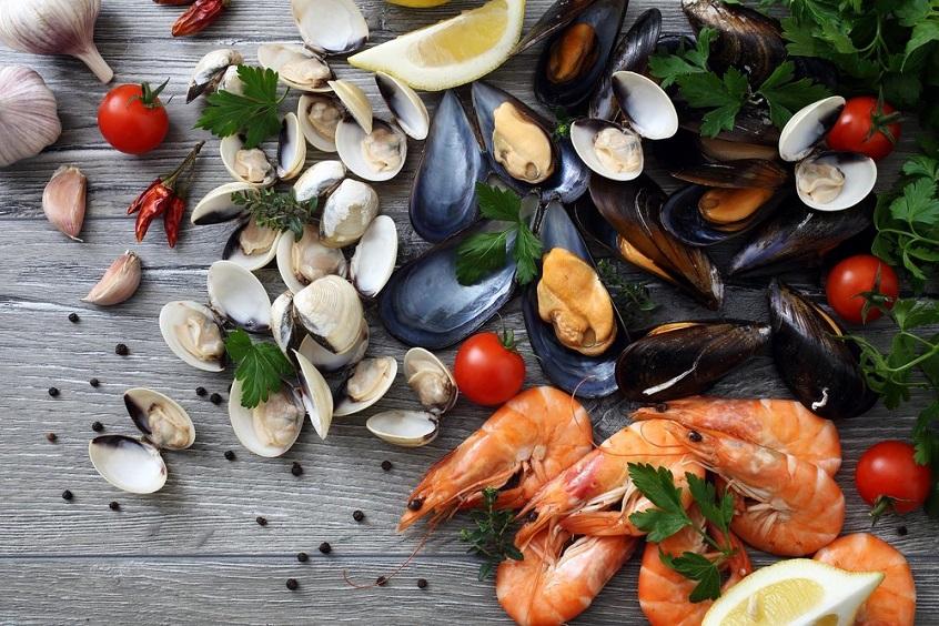 установлен разновидности морепродуктов фото помощью книг